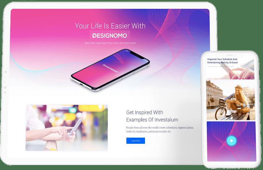 WordPress Webdesign Desktop & Handy Beispiel